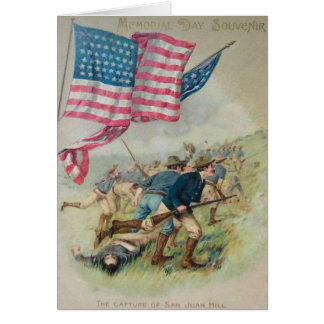 De Vlag San Juan Hill Roosevelt van de V.S. Kaart