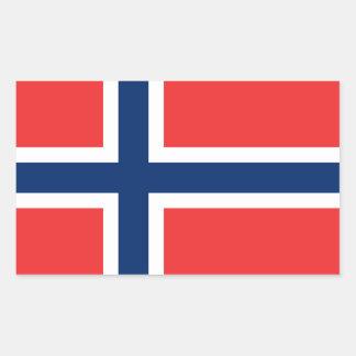 De Vlag Stickers* van Noorwegen Rechthoekige Sticker