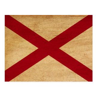 De Vlag van Alabama Wenskaart