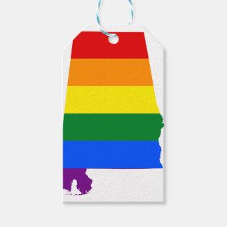 De Vlag van Alabama LGBT Cadeaulabel