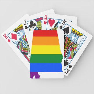 De Vlag van Alabama LGBT Poker Kaarten