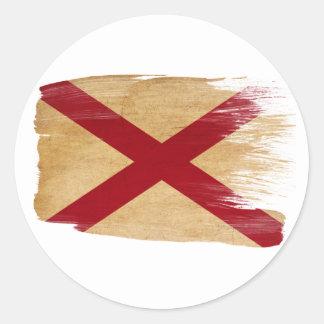De Vlag van Alabama Ronde Stickers