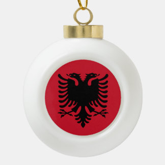 De Vlag van Albanië Keramische Bal Ornament