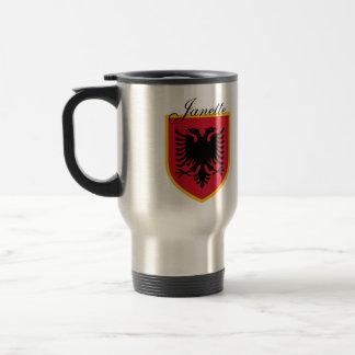 De Vlag van Albanië Reisbeker