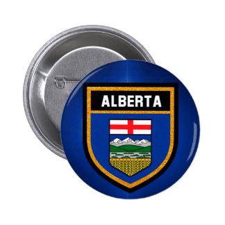 De Vlag van Alberta Ronde Button 5,7 Cm