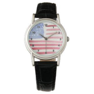 De Vlag van Amerikanen de V.S. Horloge