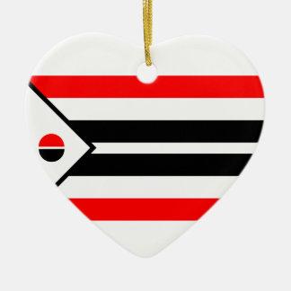 De Vlag van Arapaho Keramisch Hart Ornament