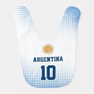 De Vlag van Argentinië met Aantal van de Speler Slabbetje