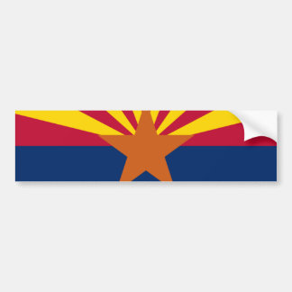 DE VLAG VAN ARIZONA BUMPERSTICKER