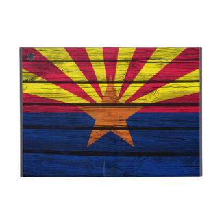 De Vlag van Arizona op Rustiek Hout wordt geschild iPad Mini Hoesje