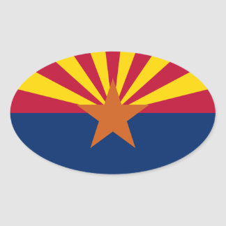 De Vlag van Arizona Ovale Sticker