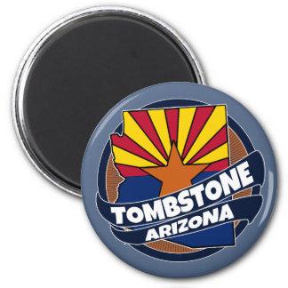 De vlag van Arizona van de grafsteen barstte Magneet