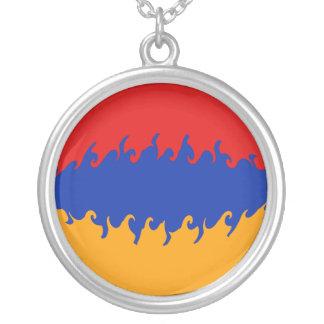 De Vlag van Armenië Gnarly Zilver Vergulden Ketting