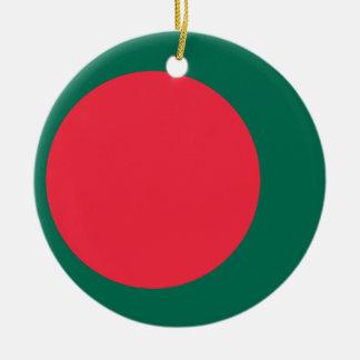 De Vlag van Bangladesh Rond Keramisch Ornament