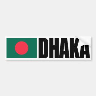 De Vlag van Bangladesh van Dhaka Bumpersticker
