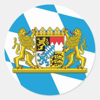 De Vlag van Beieren Ronde Sticker