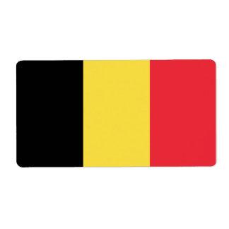 De Vlag van België Verzendlabel