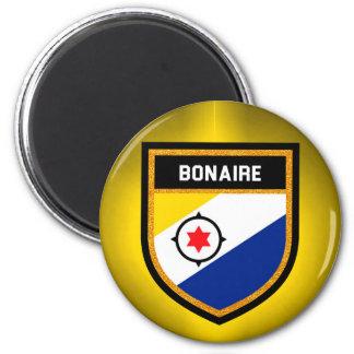 De Vlag van Bonaire Ronde Magneet 5,7 Cm
