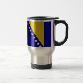 De Vlag van Bosnië-Herzegovina Reisbeker