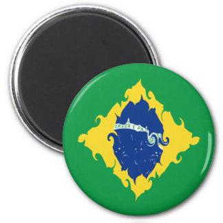 De Vlag van Brazilië Gnarly Magneet