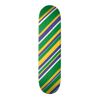 De vlag van Brazilië inspireerde het Gekleurde 20,6 Cm Skateboard Deck