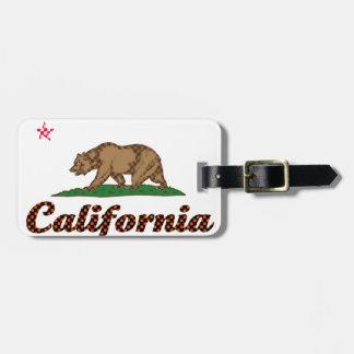 De Vlag van Californië geruit-uit Bagagelabel