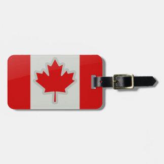 De vlag van Canada - bagagelabel