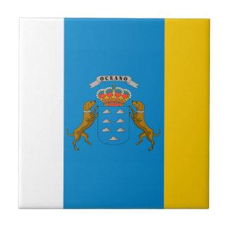 De Vlag van Canarische Eilanden (Spanje) Tegeltje