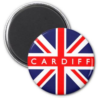 De Vlag van Cardiff het UK Magneet