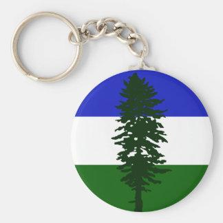 De Vlag van Cascadia Sleutelhanger