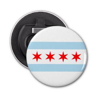 De Vlag van Chicago Button Flesopener