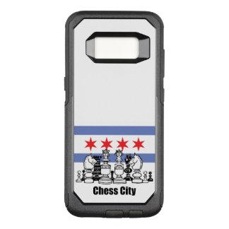 De Vlag van Chicago & de Raad van het Schaak OtterBox Commuter Samsung Galaxy S8 Hoesje