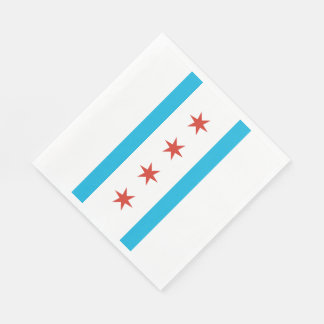 De Vlag van Chicago Papieren Servet