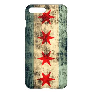 De Vlag van Chicago van Grunge iPhone 7 Plus Hoesje