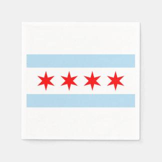 De vlag van Chicago Wegwerp Servetten