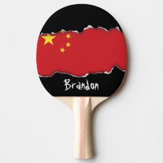 De Vlag van China Tafeltennis Bat