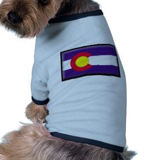 De Vlag van Colorado T-shirt Voor Honden