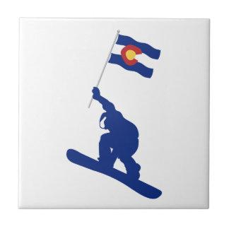 De Vlag van Colorado Snowboard Keramisch Tegeltje