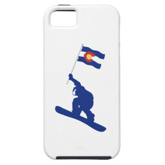 De Vlag van Colorado Snowboard Tough iPhone 5 Hoesje