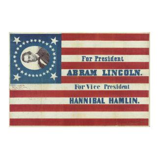 De Vlag van de Banner van de Campagne van het Canvas Print