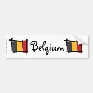 De Vlag van de Borstel van België Bumpersticker