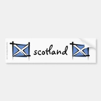 De Vlag van de Borstel van Schotland Bumpersticker