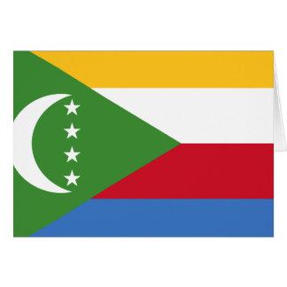 De Vlag van de Comoren Kaart