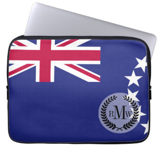 De vlag van de Cook Eilanden Computer Sleeve
