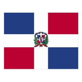 De Vlag van de Dominicaanse Republiek Briefkaart