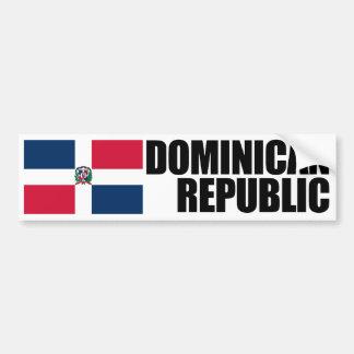 De Vlag van de Dominicaanse Republiek Bumpersticker