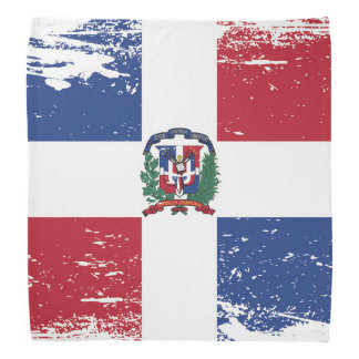 De Vlag van de Dominicaanse Republiek van Grunge Bandana
