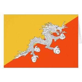 De Vlag van de Draak van de donder van Bhutan Briefkaarten 0