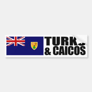 De Vlag van de Eilanden van Turken & Caicos Bumpersticker