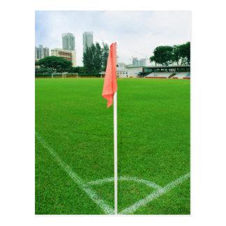 De Vlag van de Hoek van het voetbal Briefkaart
